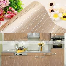 kitchen cabinet cover paper chagne stripes pvc contact paper kitchen units cupboard door