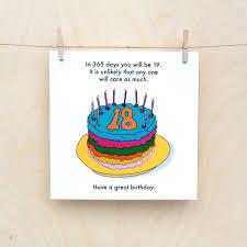 funny 18th birthday card funny 18 rude 18th 18th birthday card