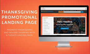 thanksgiving promotional landing page crystalcommerce products