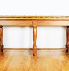 Oak Sofa Table by Narrow Oak Sofa Table Table With Brass Nail Head Trim Ebth