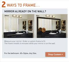 bathroom mirror frame kits mirrormate frames