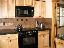 Hickory Kitchen Cabinet Marble Countertops With Hickory Cabinets Dark Counters Hickory
