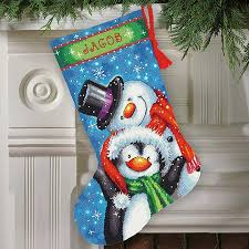 dimensions patterned snowman needlepoint kit