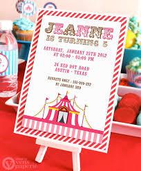 diy printable invitation card vintage pink carnival circus