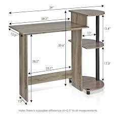 Desk Measurements Amazon Com Furinno 11181gyw Bk Compact Computer Desk French Oak