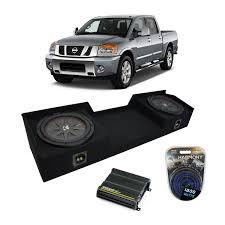 nissan box car 04 15 fits nissan titan king crew kicker comprt cwrt10 dual 10 sub