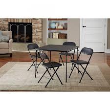 fold away card table cosco 5 piece card table set black walmart inside dining table