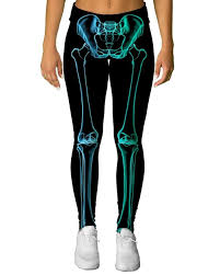 Halloween Skeleton Bodysuit X Ray Skeleton Leggings Halloween Print Yoga Pants Into The Am