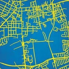 Uark Campus Map University Of Delaware Campus Map Art City Prints
