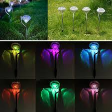solar led stake lights set of 2 led changing solar powered lights clearance