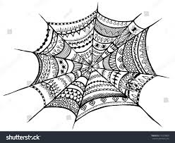 halloween textures zentangle spider web halloween zentangle illustration stock vector