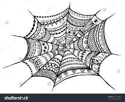 zentangle spider web halloween zentangle illustration stock vector