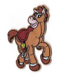 bullseye toy story horse disney embroidered iron