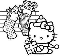 hallo kitty christmas cake coloring printables