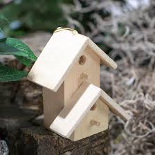 miniature unfinished wood birdhouse ornament birds butterflies