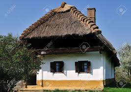 Rustic House Traditional Rustic House With Thatched Roof At Pityerszer Hungary