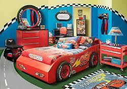 cars bedroom set the disney cars 4 pc bedroom