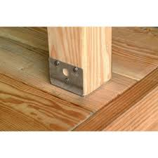 Banister Attachment Deck Can I Use These Post Brackets To Attach Railing Posts On