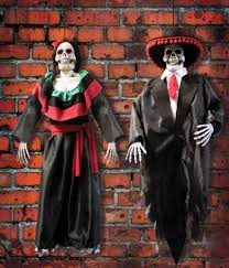 halloween costume mexican skeleton day of the dead inspired hanging figures for halloween decoration