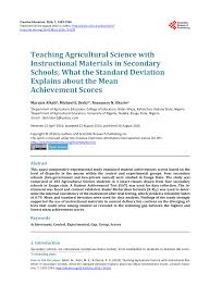 teaching agricultural science with instructional materials in