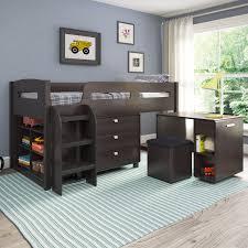 Bunk Beds Set Corliving Loft Bed With Desk And Storage Hayneedle
