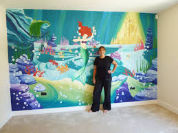 joanna perry murals hand painted murals mural artist murals joanna and little mermaid mural