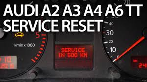 how to reset service interval in audi a2 a3 a4 a6 tt sri srl