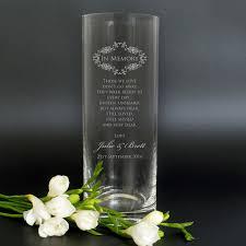 wedding memorial engraved wedding memorial memory vase personalised favours