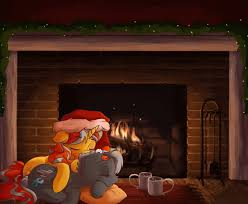 1090852 artist ink dash chocolate christmas cuddling
