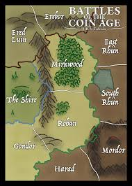 Map Of Mordor J R R Tolcoin U0027s Middle Earth Map Big Image Coin Age