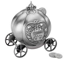 fairy tale coach pewter coin bank