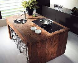 kitchen island made from reclaimed wood salvaged kitchen cabinets insteading