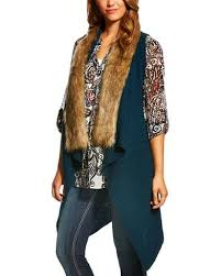 sweater with faux fur collar ariat s faux fur collar sweater vest boot barn