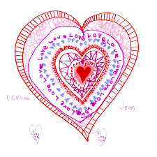 a heart drawing activity to celebrate connection great for