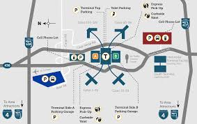 Florida Orlando Map by Parking Orlando International Aiport Mco