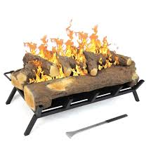 inch convert to ethanol fireplace log set with burner insert from