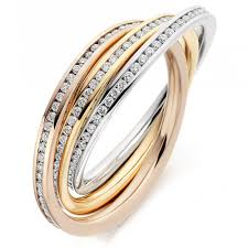russian wedding rings the raphael collection 18ct multi gold 1 00ct diamond channel