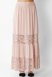 Blush Chiffon Maxi Skirt Wholesale Long Skirt Chiffon Lace Skirt Latest Skirt Design