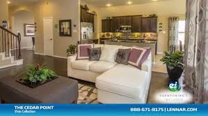 the cedar point model new home tour lennar houston youtube