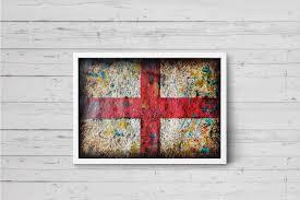 Englands Flag England Flag Hand Painted Wall Art U2013 Art For Loft