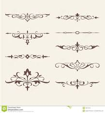 curled calligraphic design elements for logo stock vector image