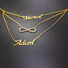 infinity necklace with name name personalize silver necklace