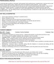 Resume Profile Examples For Customer Service by Personal Statement Cv Examples Customer Service