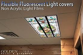 Kitchen Fluorescent Light Cover Fantasy Stained Glass 2ft X 4ft Drop Ceiling Fluorescent
