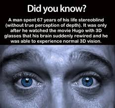 fun things for 67 years old and suddenly he has 3d perception fun facts pinterest