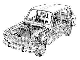 1968 1974 renault 6 uk specs illustration by terry davey