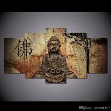 Painting Livingroom 2017 Framed Hd Printed Canvas Art Buddha Combine Painting Living