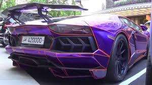Lamborghini Veneno Purple - glow in the dark lamborghini supercars youtube