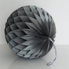 paper decorations metallic silver paper honeycomb hanging party decorations