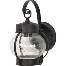 Vaxcel Nautical Lighting by Glomar 1 Light Outdoor Textured Black Wall Lantern Onion Lantern